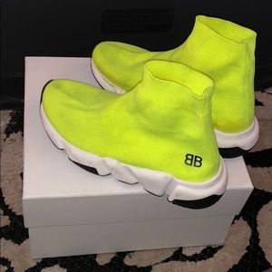 Balenciaga Kids Trainers (Lime)